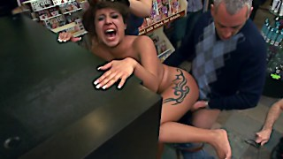Hot Latina gets dominated in public