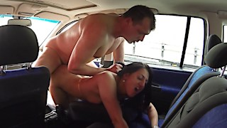 Czech whore gets picked up for car sex