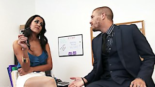 Big tit brunette abby lee brazil office fuck