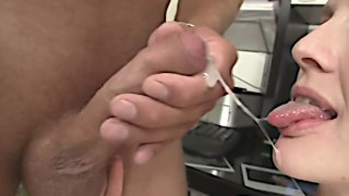 Dirty girlfriend rides another man's cock and takes his load